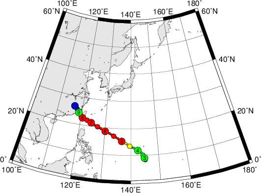 平成28年台風第1号 Super Typhoon Nepartak (2016)
