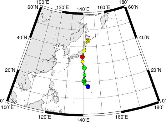 平成28年台風第9号 Typhoon Mindulle (2016)