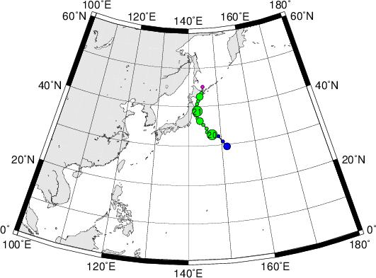 平成28年台風第11号 Tropical Storm Kompasu (2016)