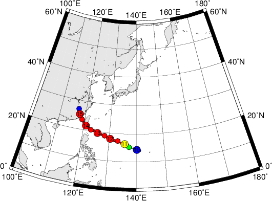 平成28年台風第14号 Super Typhoon Meranti (2016)