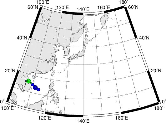 平成28年台風第15号 Tropical Storm Rai (2016)