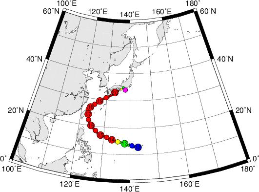 平成28年台風第16号 Typhoon Malakas (2016)