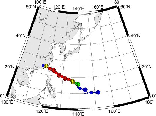 平成28年台風第17号 Typhoon Megi (2016)