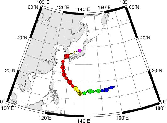 平成28年台風第18号 Super Typhoon Chaba (2016)