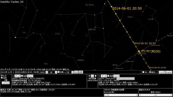 北極星方面に進む事からGLOBALSTAR M030っぽいのですが…さて