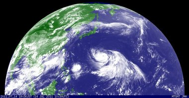 2011年7月14日19時30分 北半球画像
